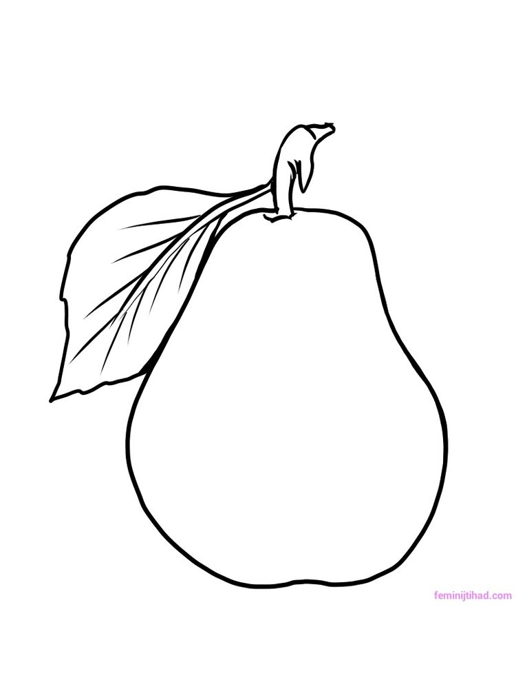 pear coloring pictures pdf free