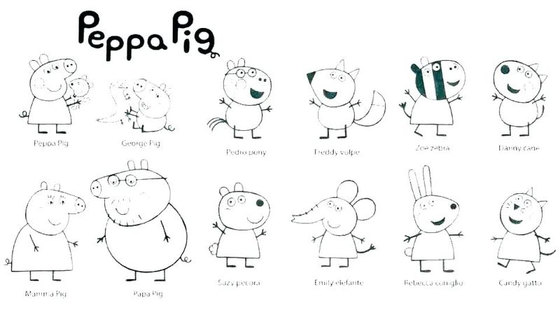 peppa pig alphabet coloring pages
