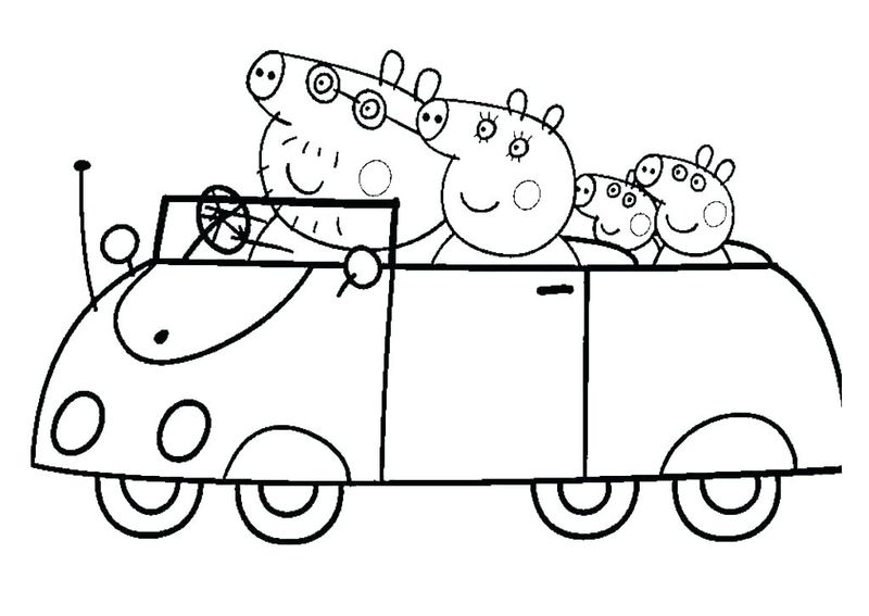 peppa pig big coloring pages