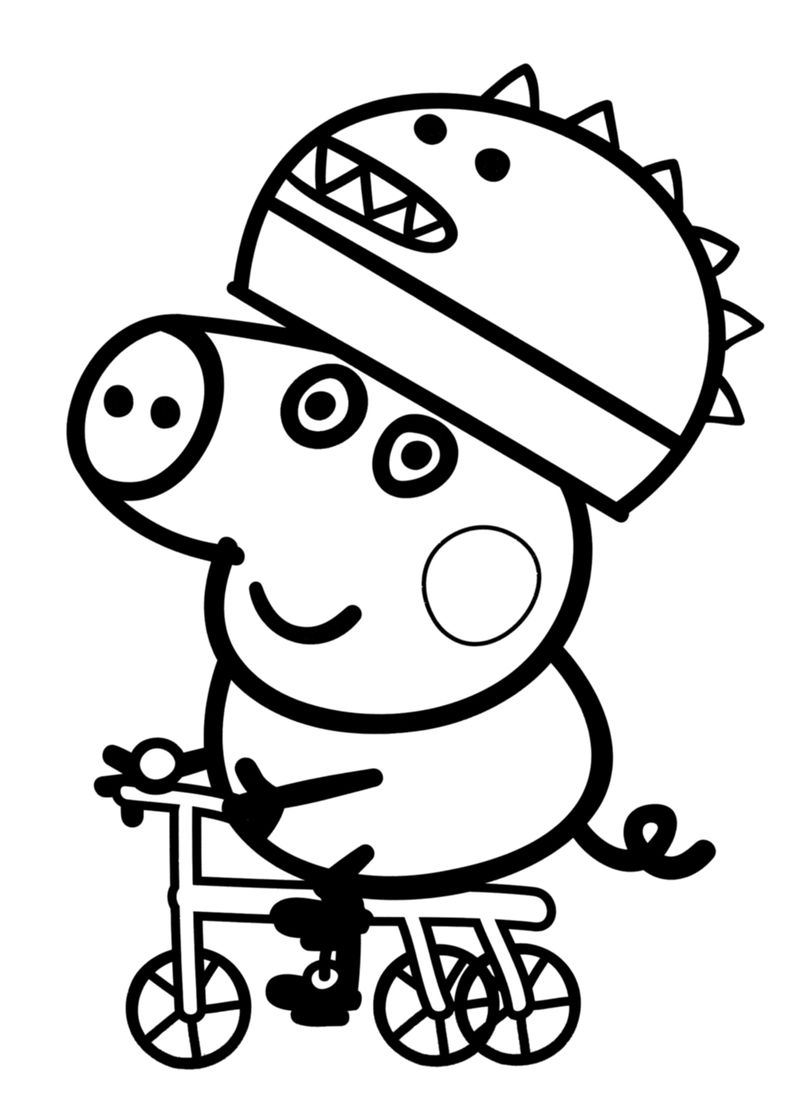 peppa pig colouring pages birthday