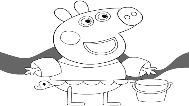 peppa pig colouring pages christmas