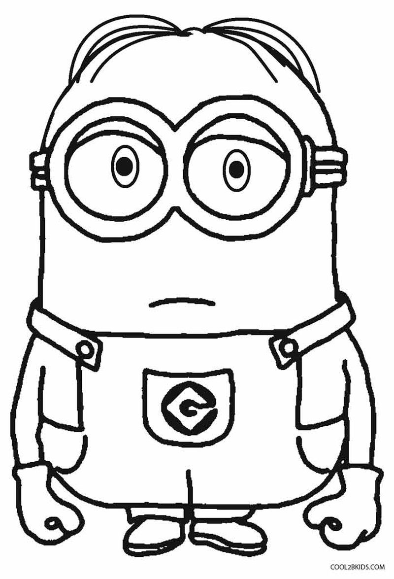 pictures of minions coloring pages