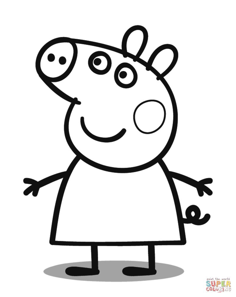 pig a pancake coloring pages