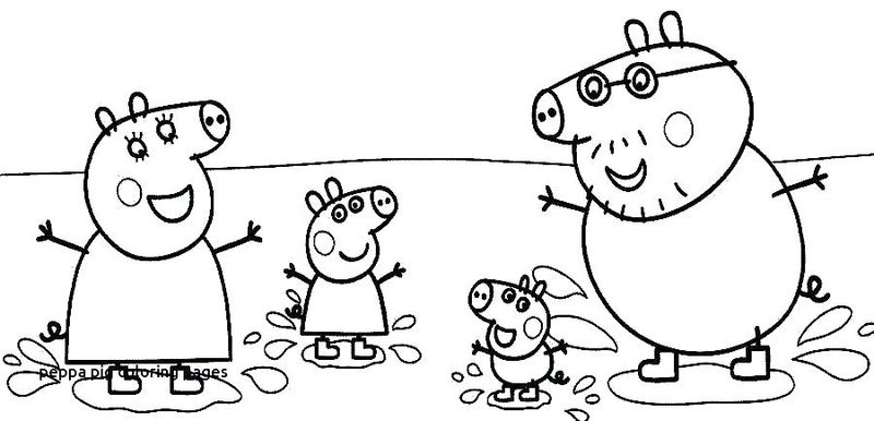 pig coloring pages simple