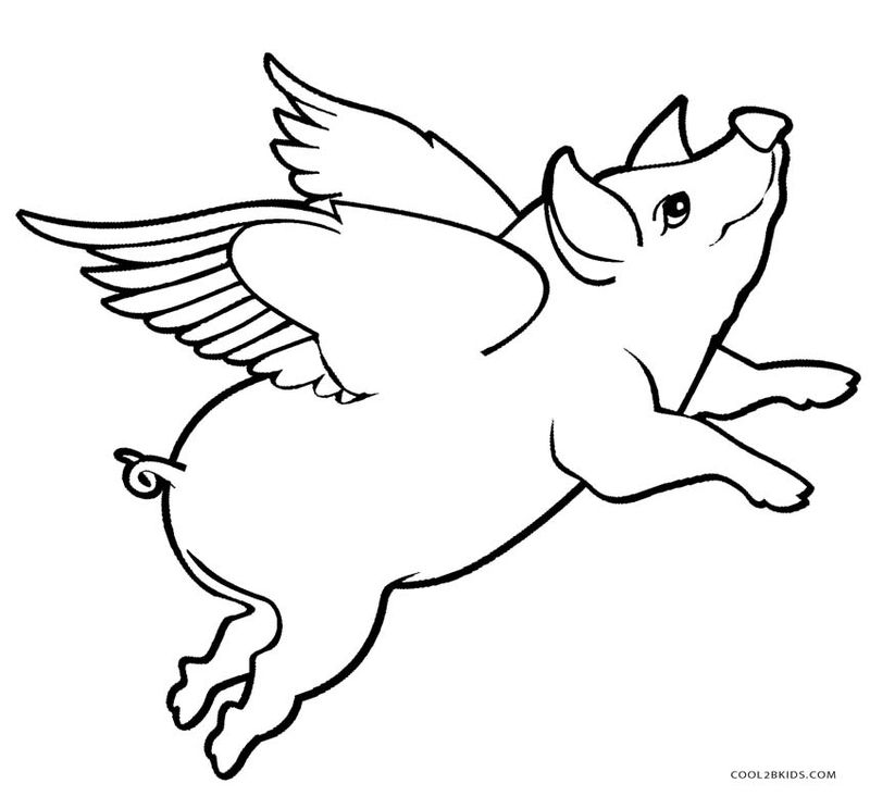 pig colouring pages to print