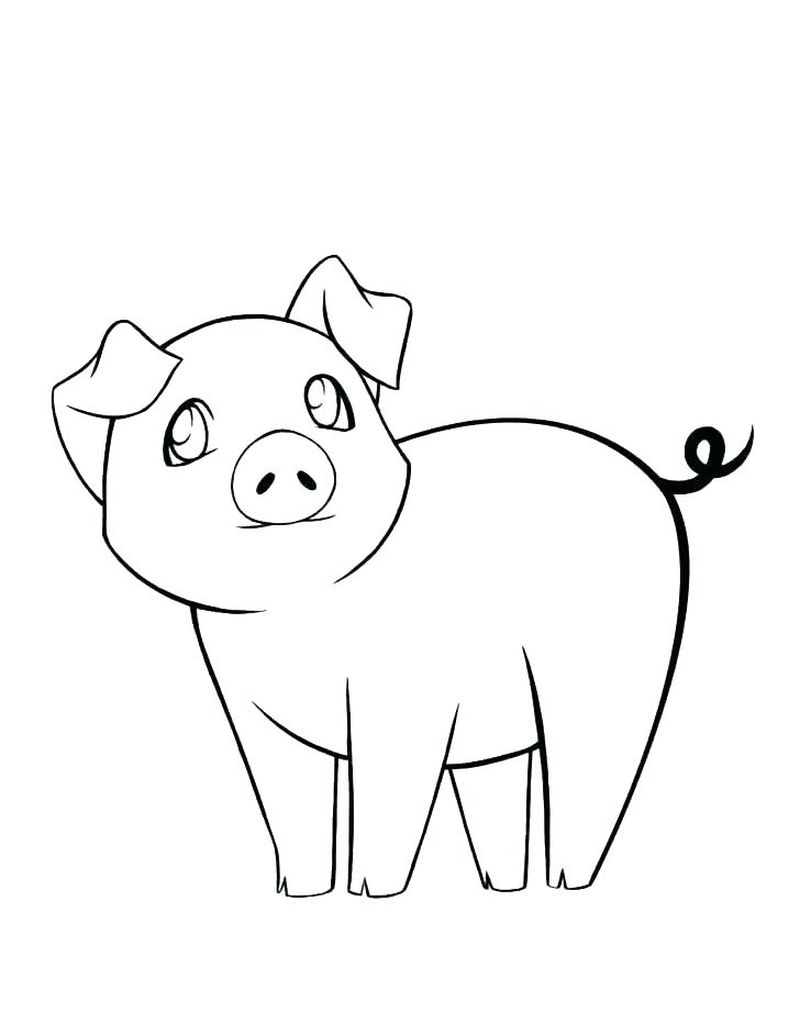 pig the elf coloring pages