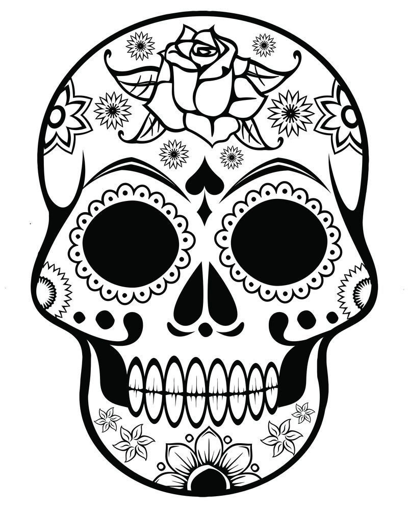 plain skull coloring pages