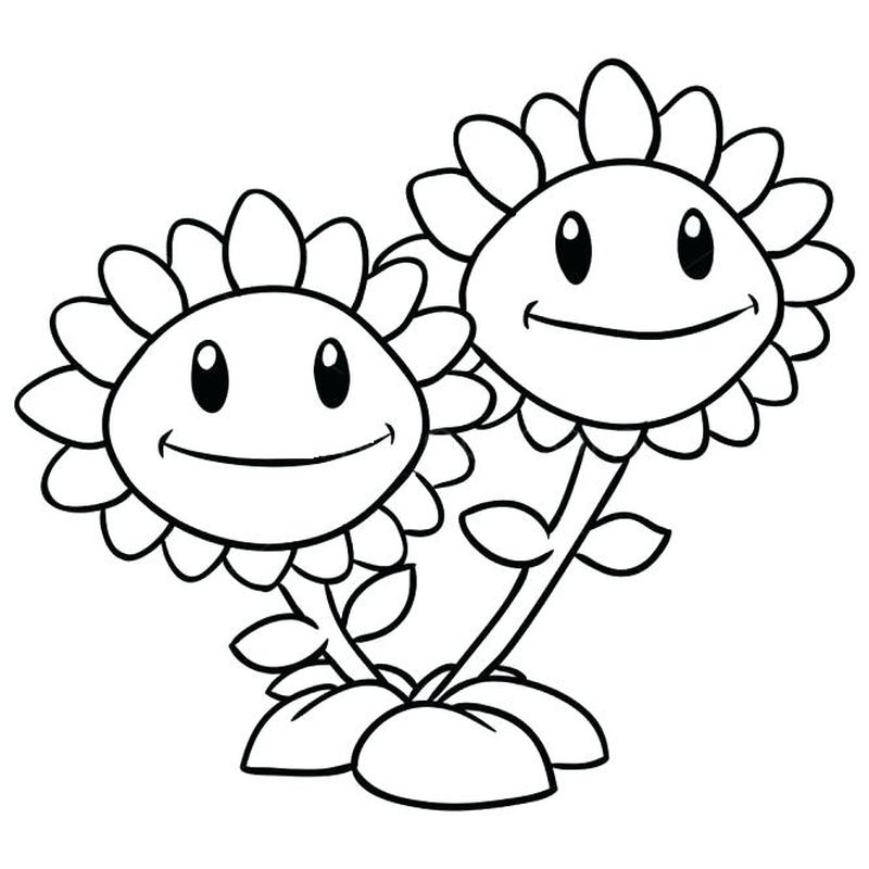 plants vs zombies coloring page