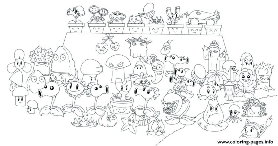plants vs zombies colouring pages free