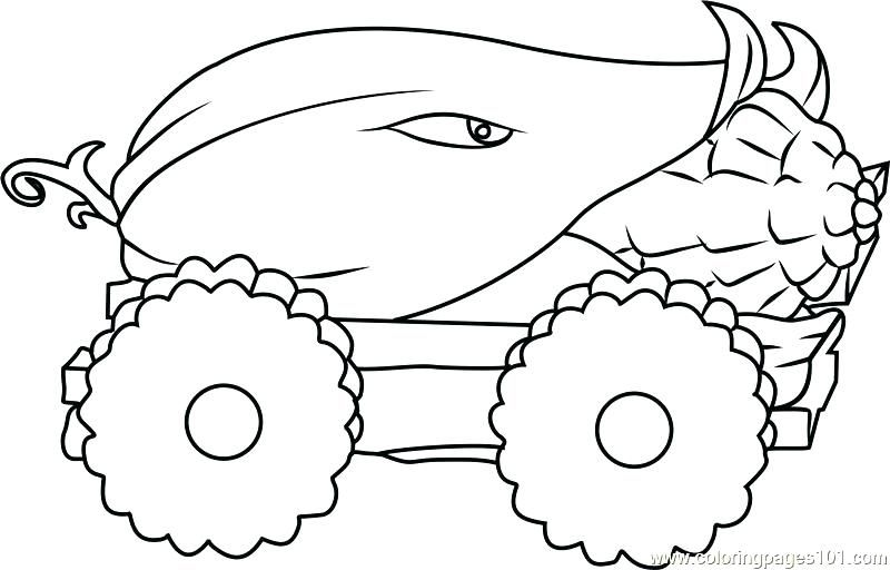 plants vs zombies fire peashooter coloring pages