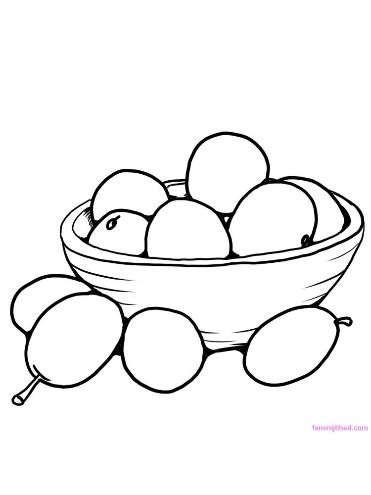 plum coloring picture to print