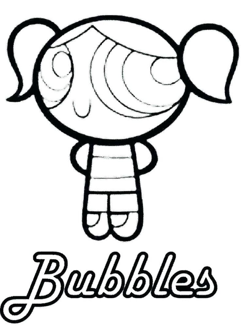 powerpuff girl coloring page