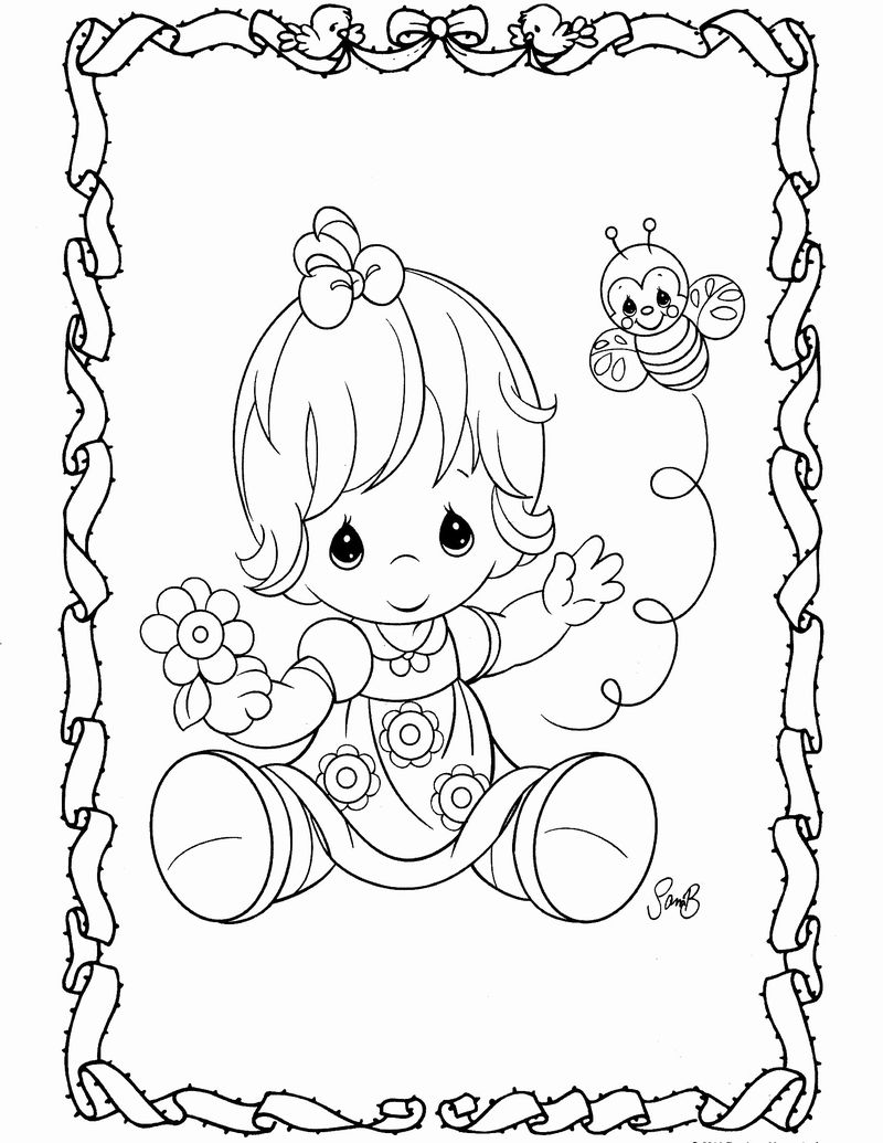 precious moments bunny coloring pages