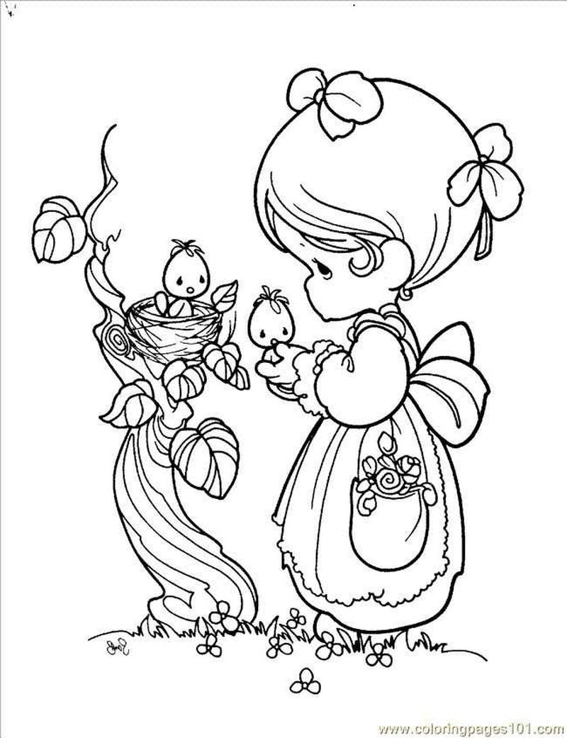 precious moments clown coloring pages