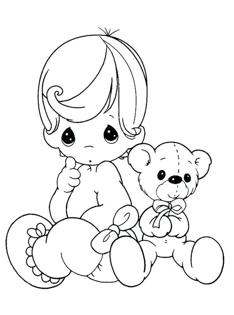 precious moments coloring pages girl