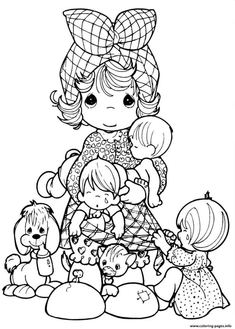 precious moments colouring pages printable