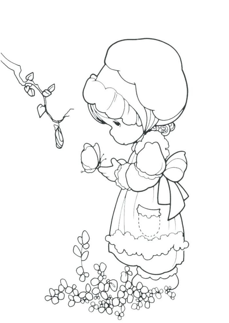 precious moments colouring pages