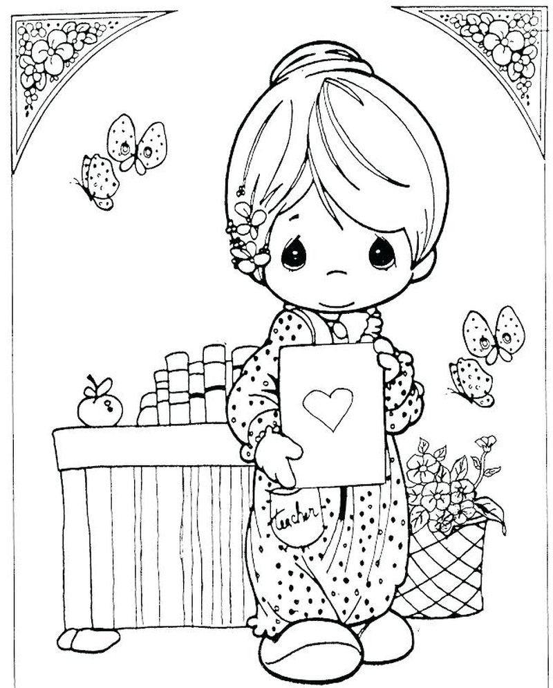precious moments summer coloring pages