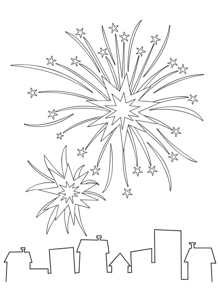 preschool fireworks coloring pages printable