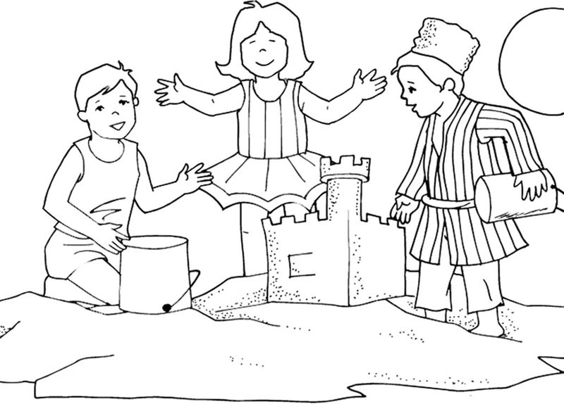 princess and her castle coloring pages