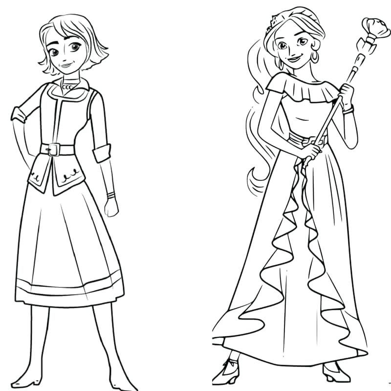 princess elena of avalor colouring pages