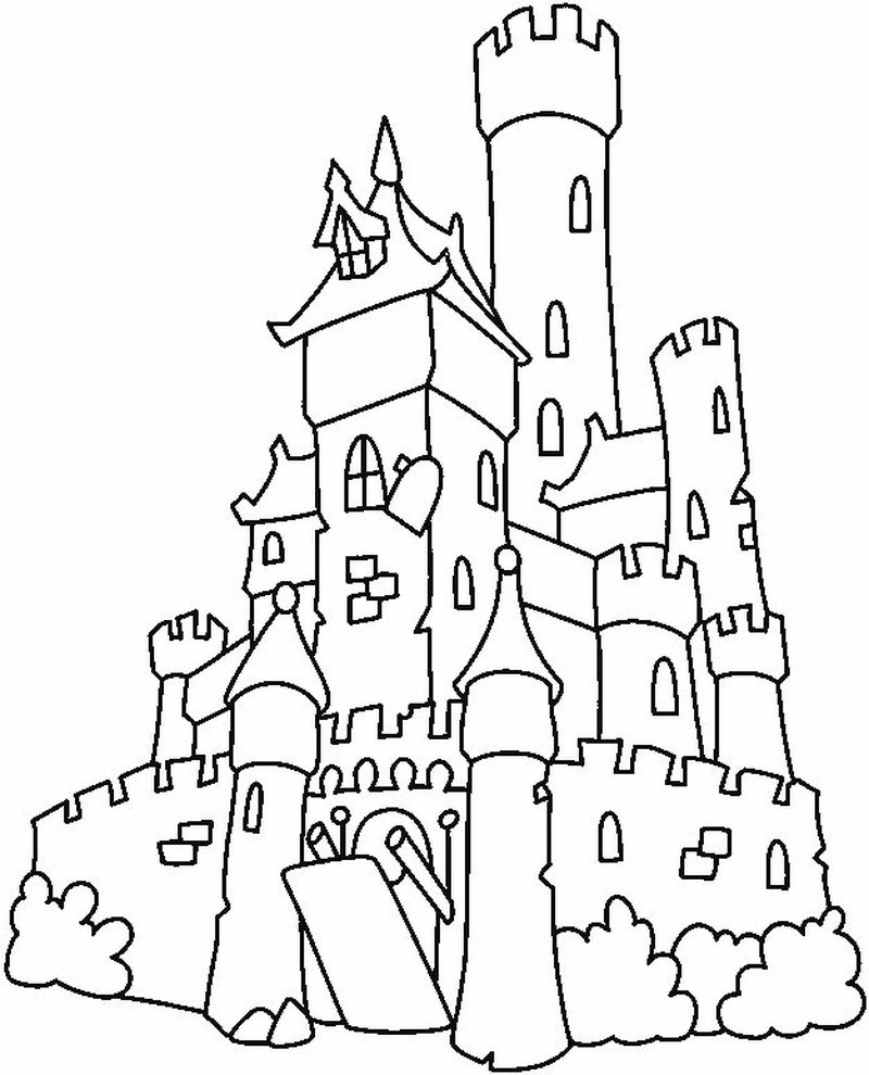 princess in a castle coloring pages