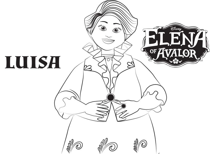 print Elena Of Avalor Coloring Pages For Free