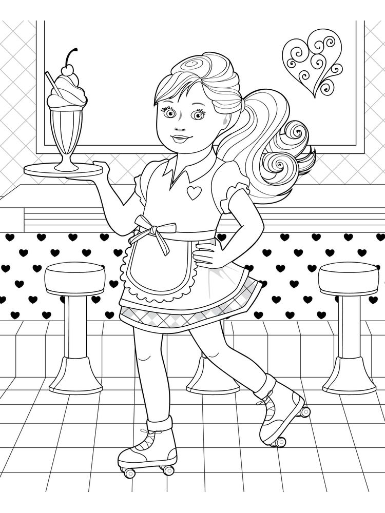 printable angel lol doll coloring page