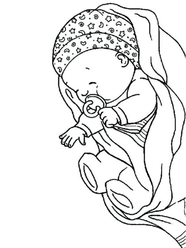 printable baby coloring pages free online