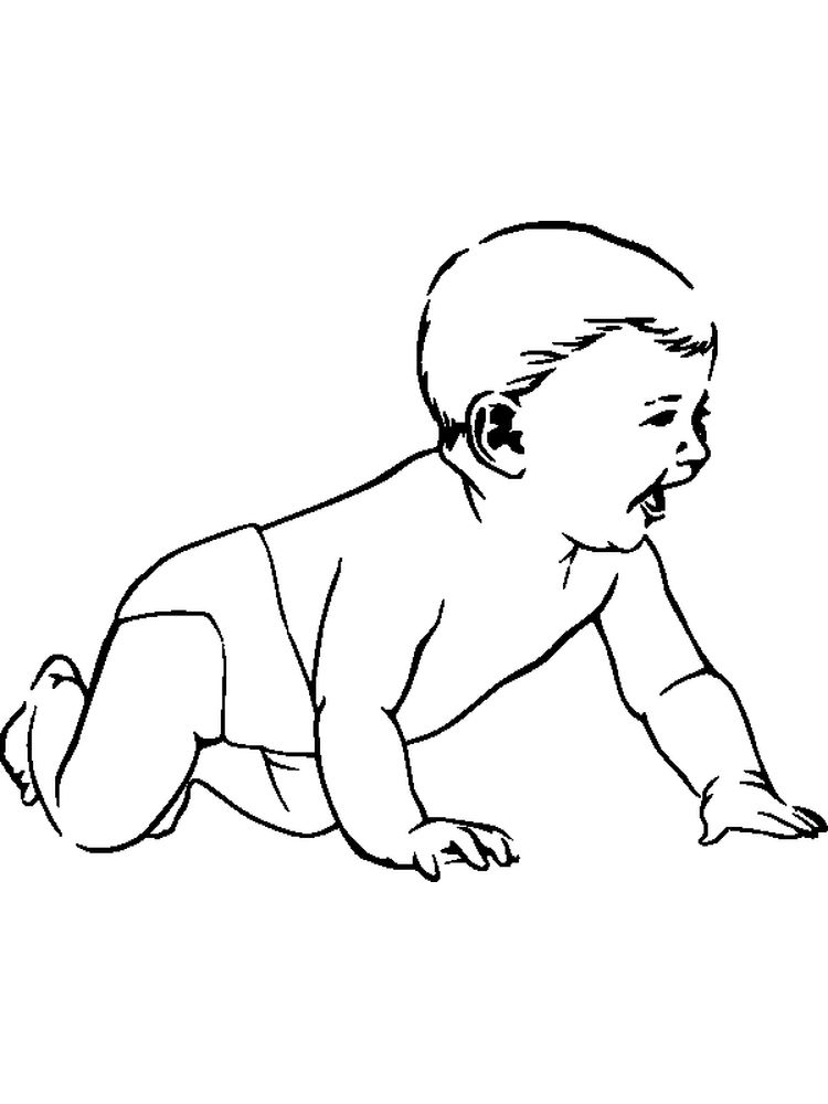 printable baby coloring pages pdf