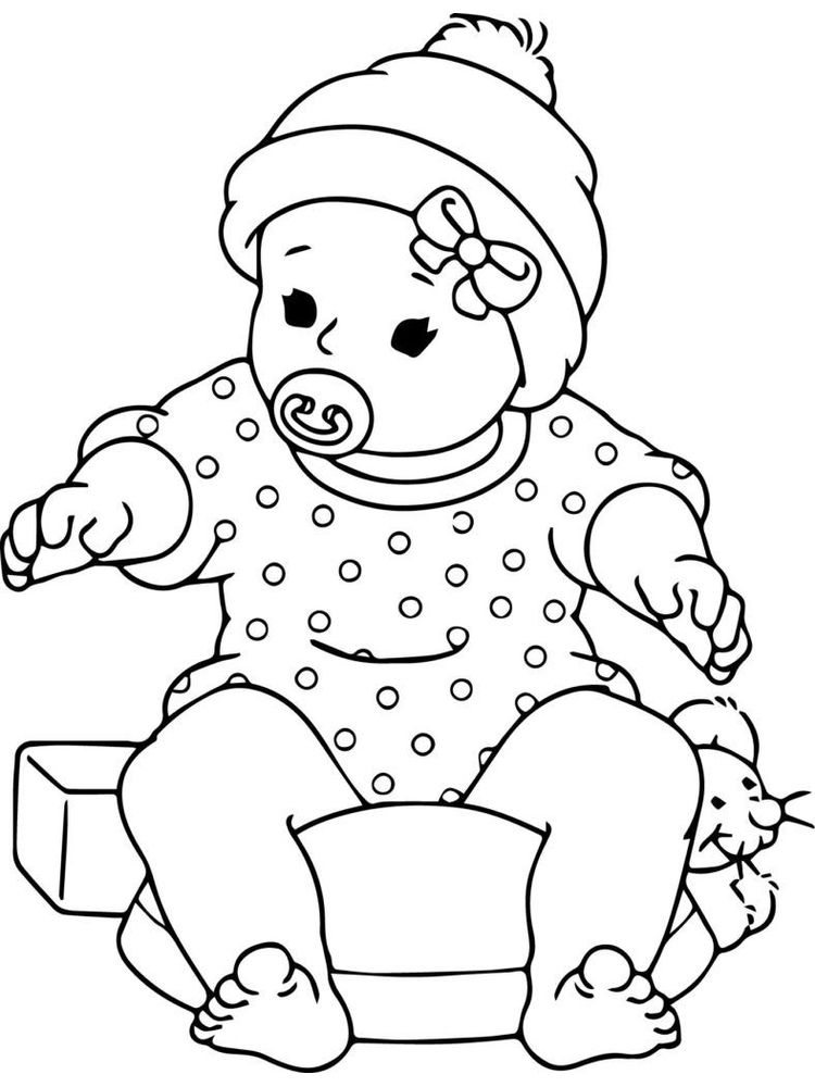 printable baby coloring pages