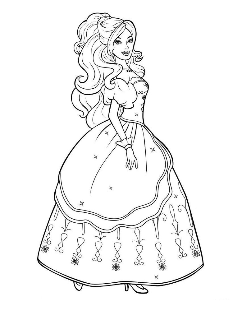 printable baby doll coloring page