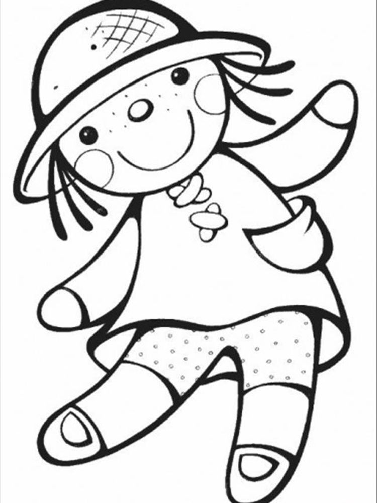 printable barbie doll coloring pages