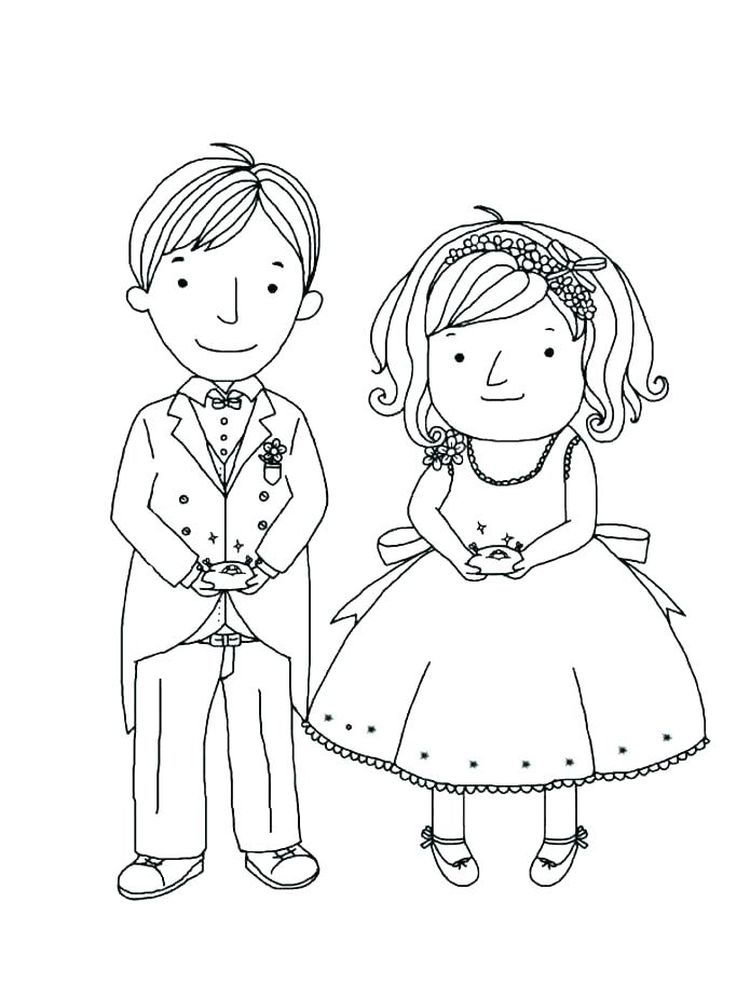 printable bride and groom coloring sheets pdf