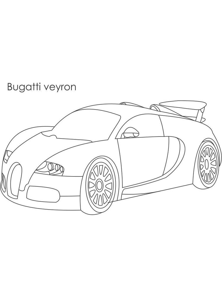 printable bugatti chiron coloring pages free