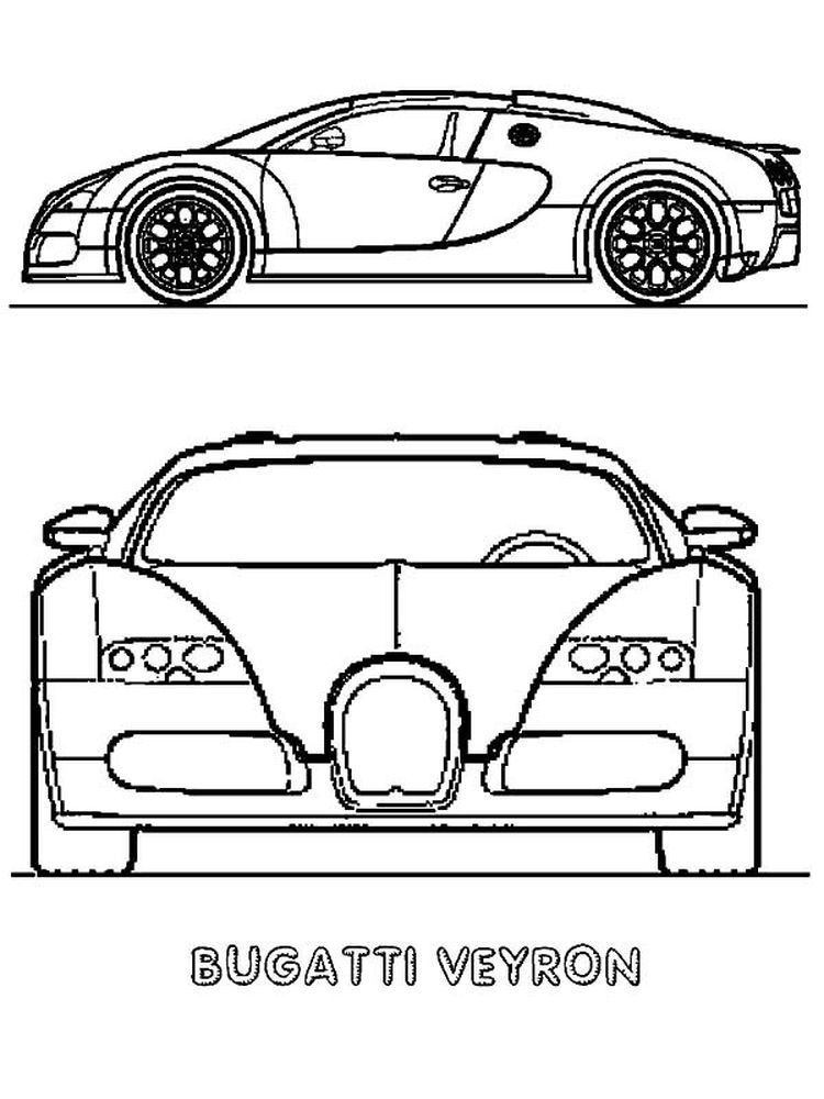 printable bugatti coloring pages black and white free
