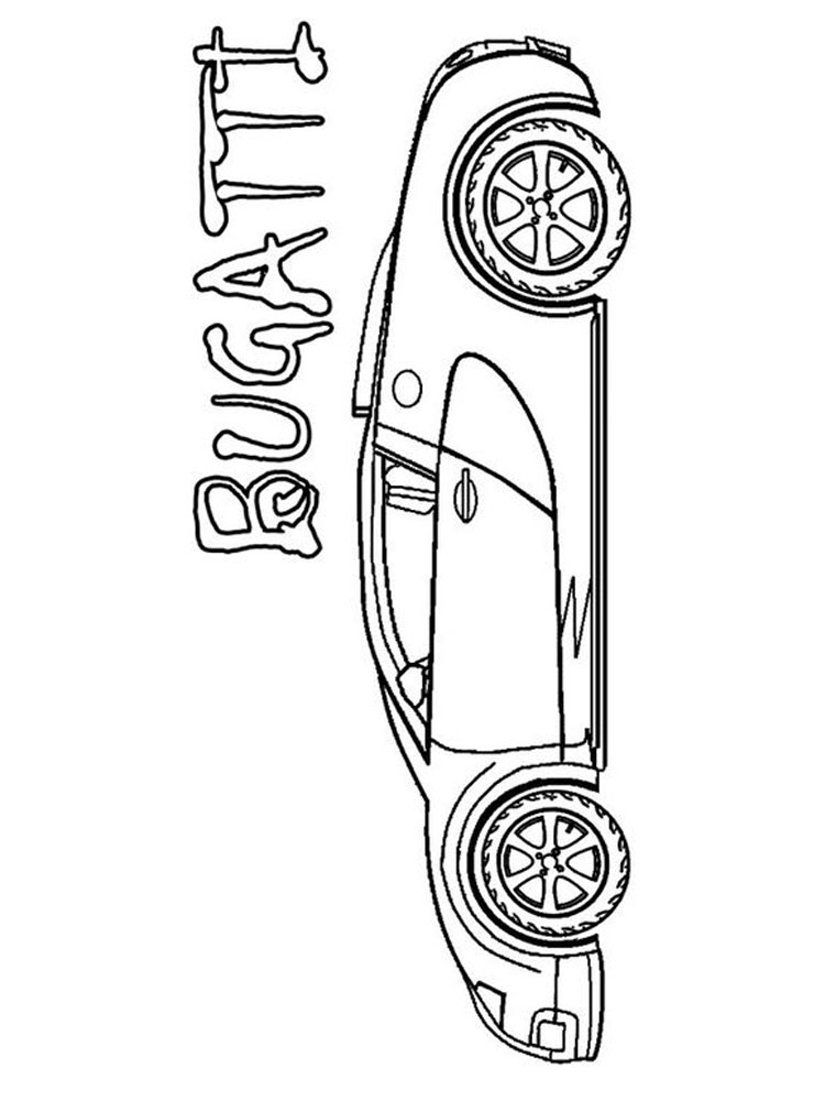 printable bugatti coloring pages free