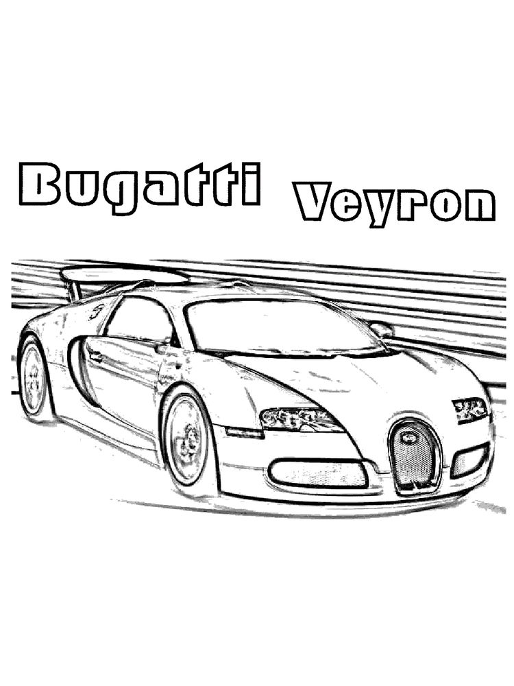 printable bugatti coloring pages online