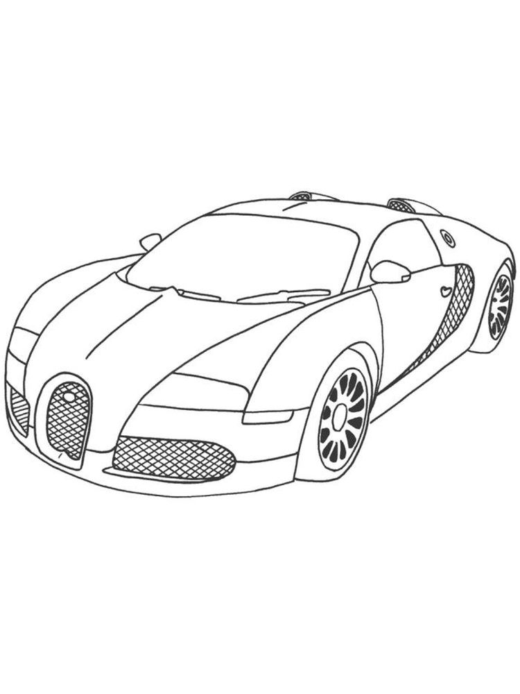 printable bugatti coloring pages print