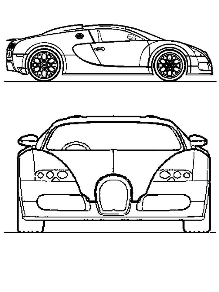 printable bugatti divo coloring pages