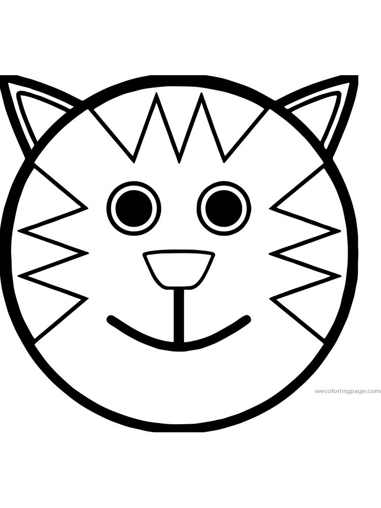 printable cat face coloring page