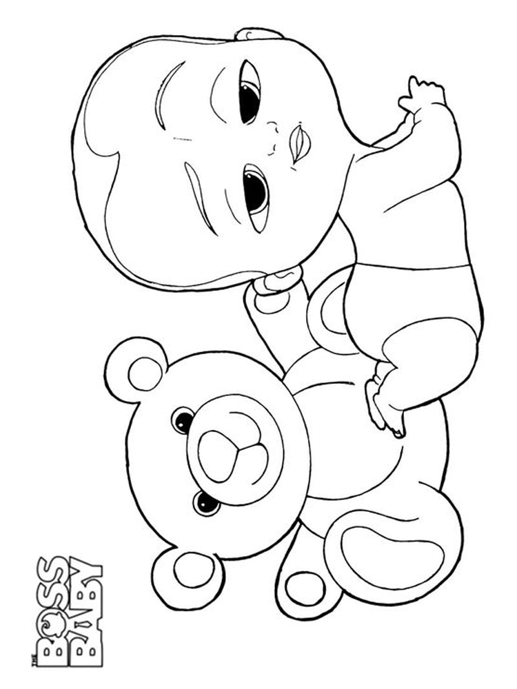 printable coloring pages baby pdf
