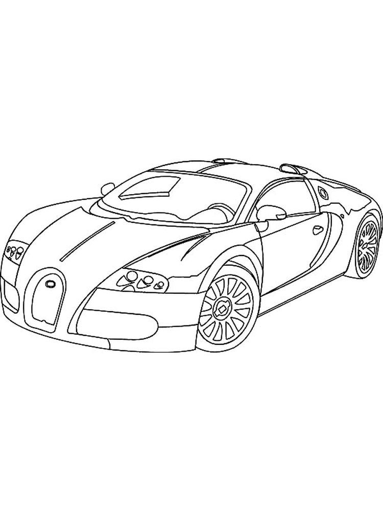 printable coloring pages cars bugatti