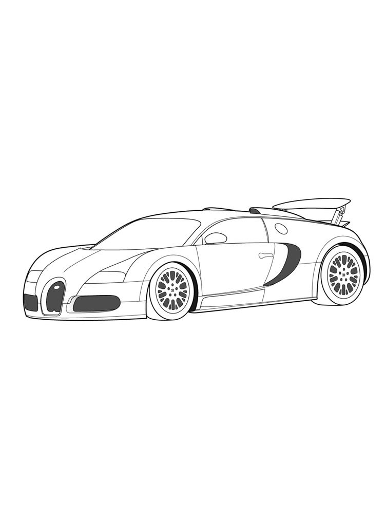 printable coloring pages of a bugatti