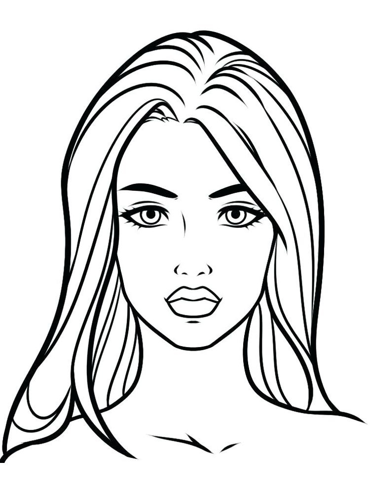 printable cute face coloring pages