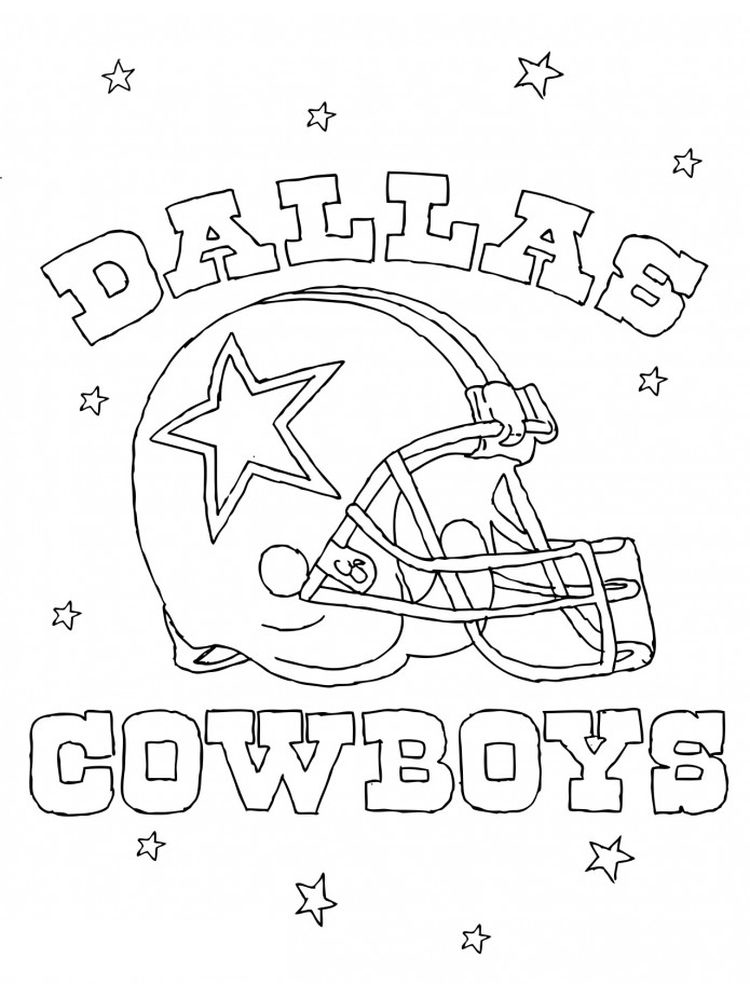 printable dallas cowboys coloring page