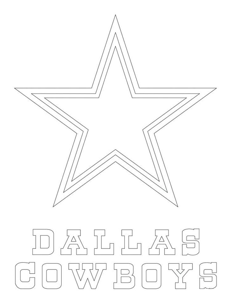 printable dallas cowboys star coloring page