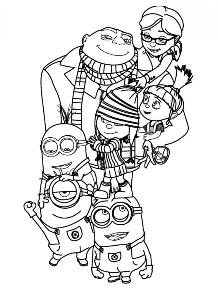 printable despicable me 3 coloring pages 1