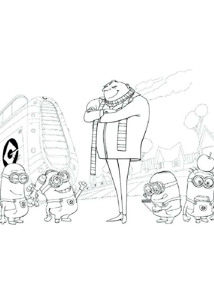 printable despicable me 3 coloring pages pdf free