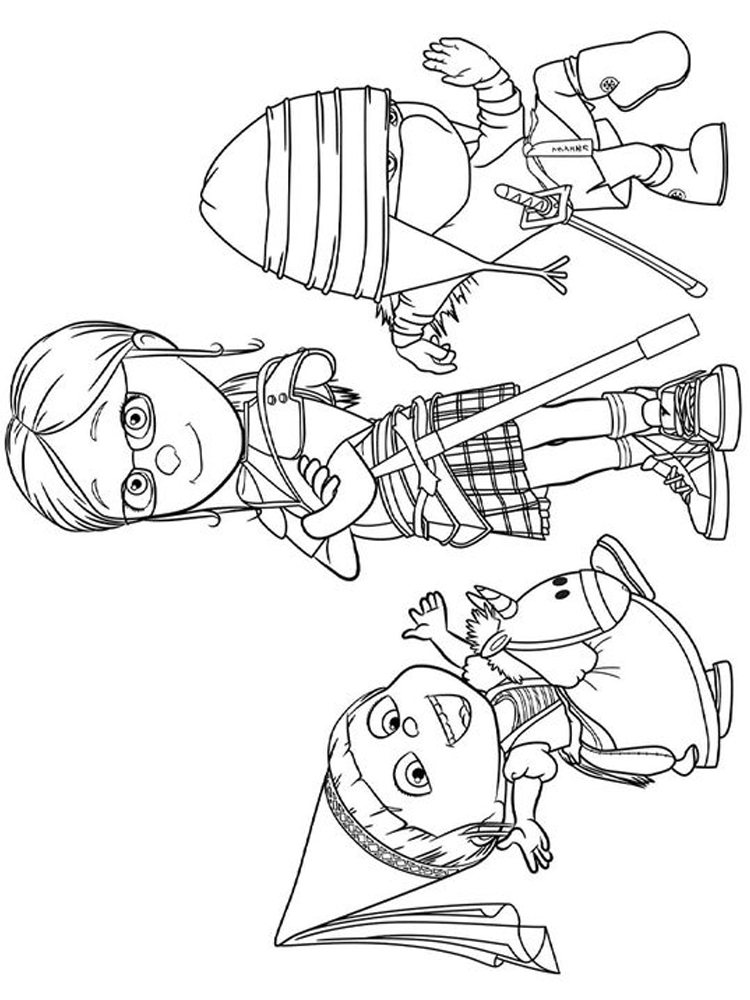 printable despicable me 3 coloring pages pict